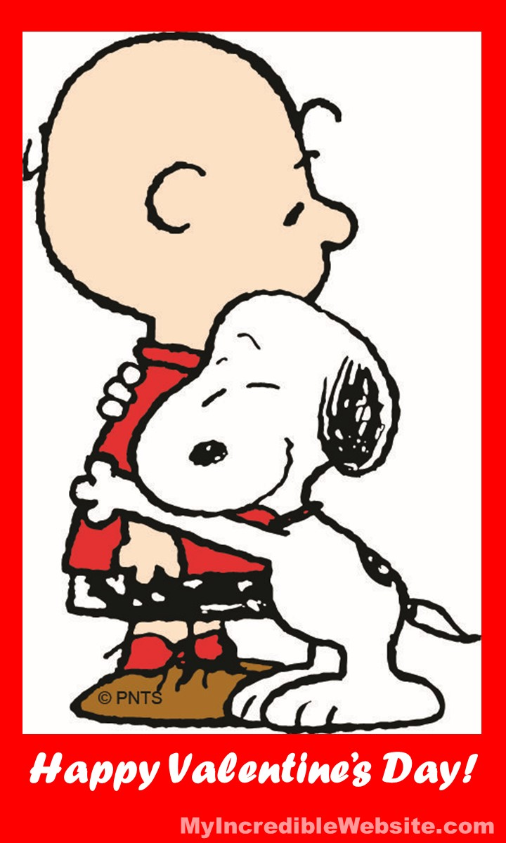 Happy Valentine's Day from Snoopy and Charlie Brown