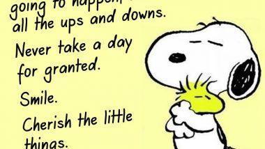 Snoopy Hugs Woodstock